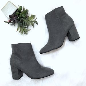 NWOT Express Faux Suede Block Heel Booties